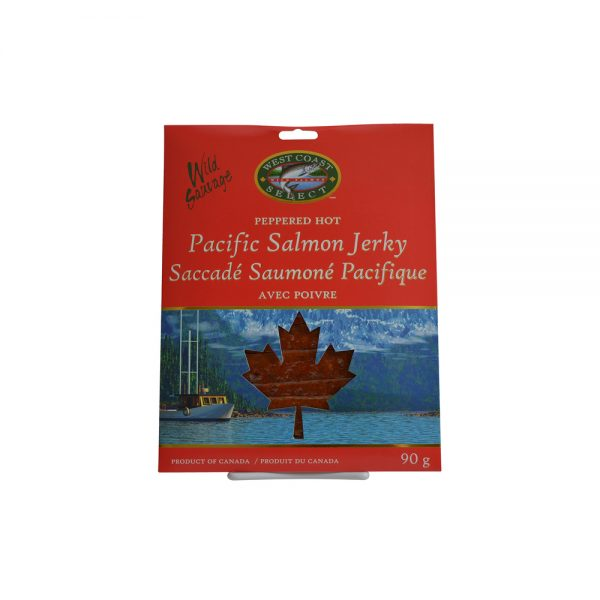 Wild Pacific Canadian Salmon Jerky Flavour 4 Pack