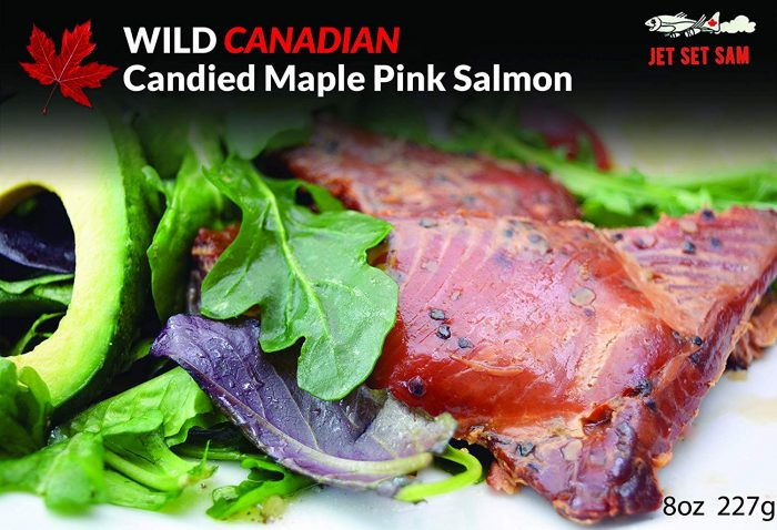 candied pink smoked salmon