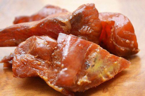 wasabi salmon jerky